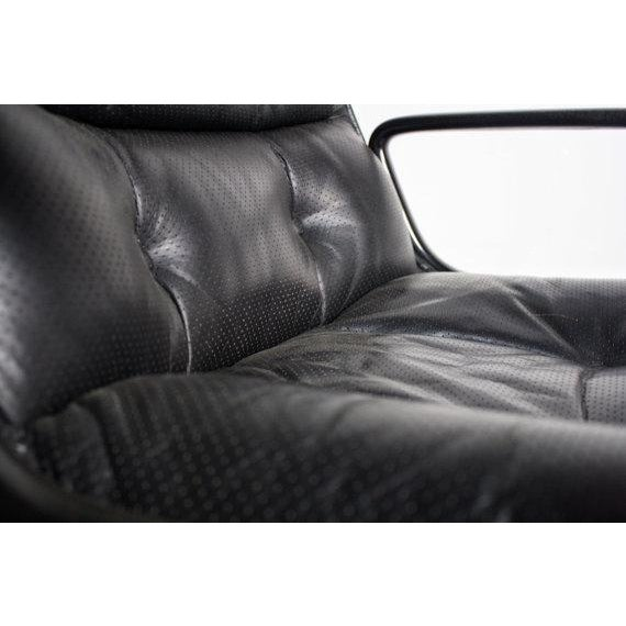 Knoll Black Vinyl Office Chair - Image 5 of 5