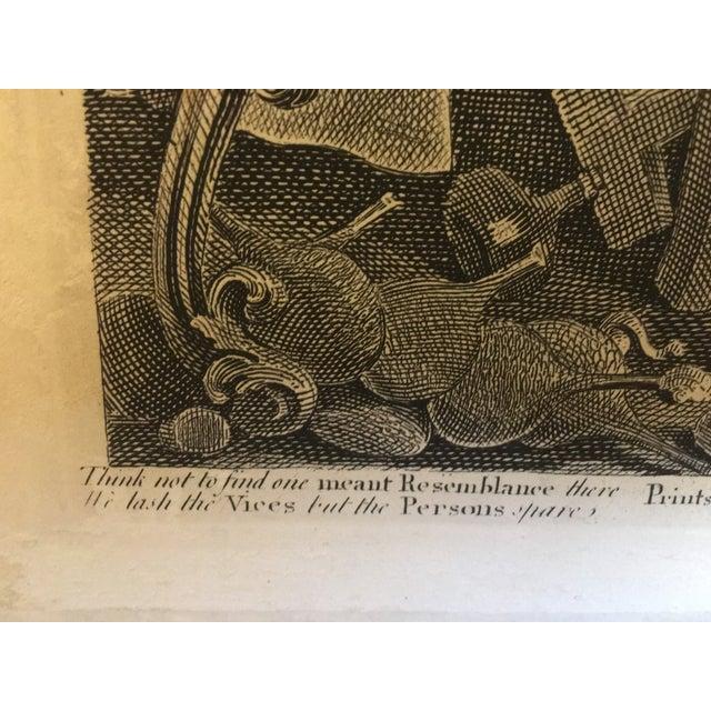 1804 Hogarth Etching Midnight Modern Conversation - Image 4 of 8