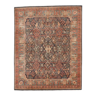 "Traditional Hand-Knotted Rug - 8'1"" x 10'"
