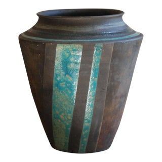 Art Pottery Hand Thrown Raku Vase
