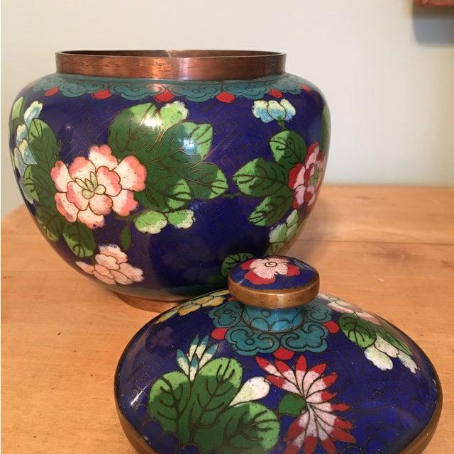 Vintage Cloisonné Bowl With Lid - Image 5 of 11