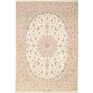 "Pasargad N Y Persian Isfahan Handmade Silk & Wool Rug - 8'3"" X 12'"