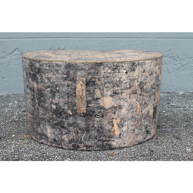 Mid-Century Kidney Shaped Tessellated Stone Coffee Table - Image 8 of 10