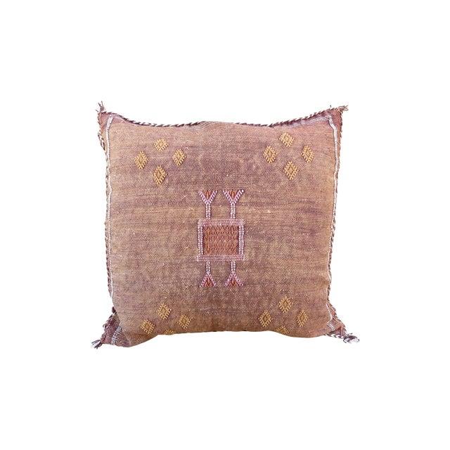 Moroccan Sabra Cactus Silk Pillow - Image 1 of 4