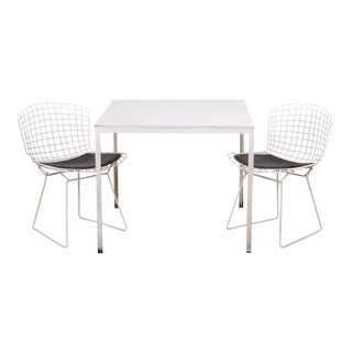 Florence Knoll Dining Table Plus Two Bertoia Side Chairs