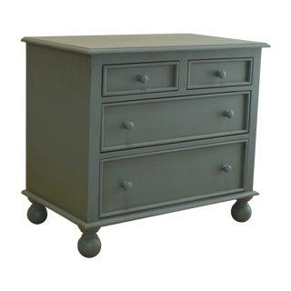 4-Drawer Aqua Bunfoot Dresser