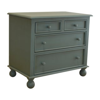 4-Drawer Aqua Bunfoot Dresser