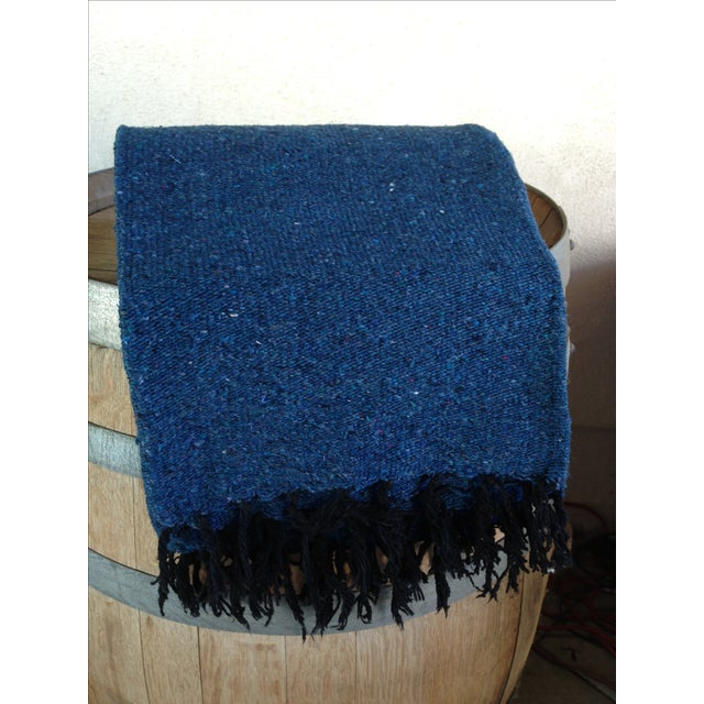 Mexican Boho Navy Yoga Beach Blanket - Image 4 of 5