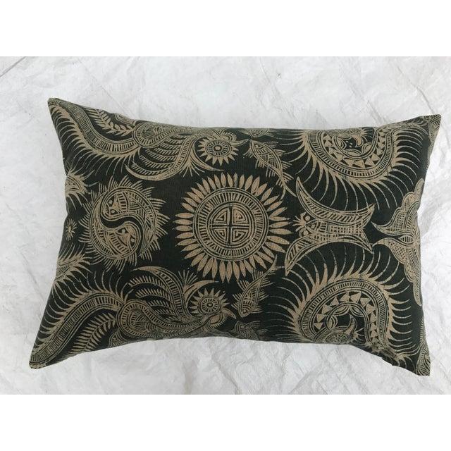 Asian Serpent Gray Batik Pillows - A Pair - Image 7 of 11