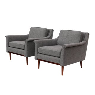 Newly Reupholstered Mid-Century Armchairs - A Pair