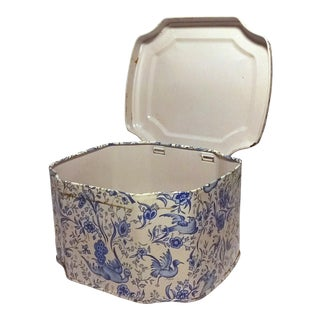 Vintage Decorative Tin Metal Box