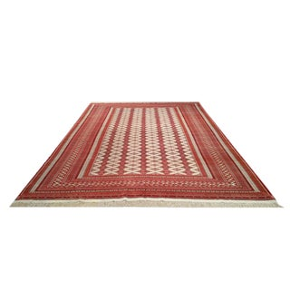 8′2″ X 11′6″ Persian Torkaman Knotted Rug - Size Cat. 8x11 9x12