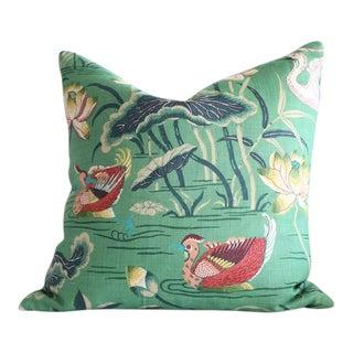 Schumacher Lotus Garden Throw Pillow