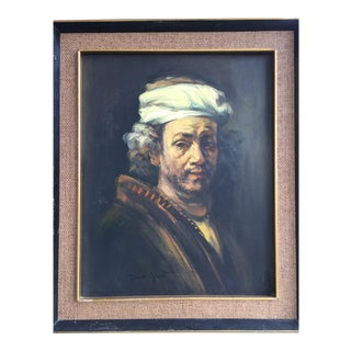 """Rembrandt Self Portrait"" Oil Painting"