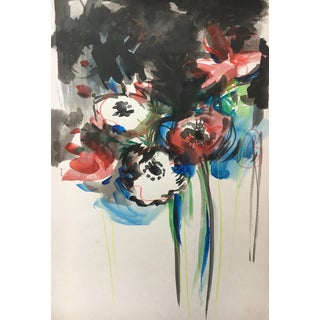 Jenny Vorwaller Red Poppies Watercolor Painting