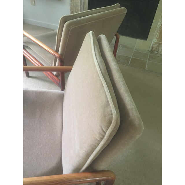 Mid Century Lounge Chairs - a Pair - Image 10 of 11