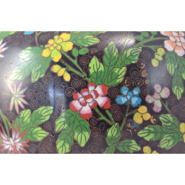 Antique Floral Cloisonné Longevity Jar - Image 6 of 9