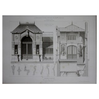 Cesar Daly 19th Century Architectural Drawing IV