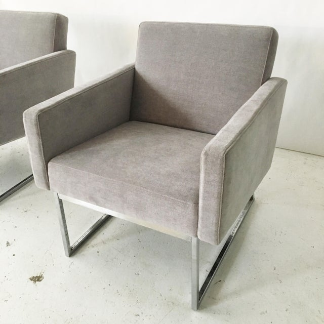 Milo Baughman Lounge Chairs- A Pair - Image 6 of 9
