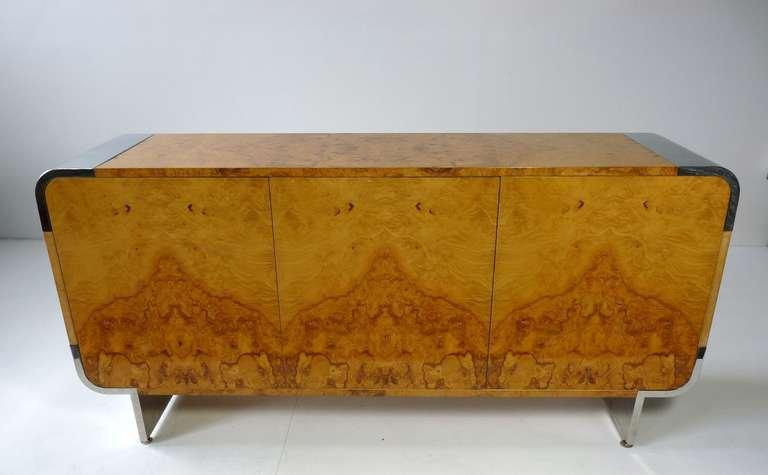 Pace Collection Burl Wood Cabinet   Image 3 Of 9