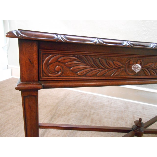 Mariette Himes Gomez Mahogany Console Table - Image 6 of 10