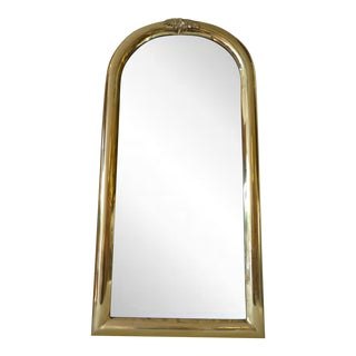Hollywood Regency Style Brass Sarried Wall Mirror