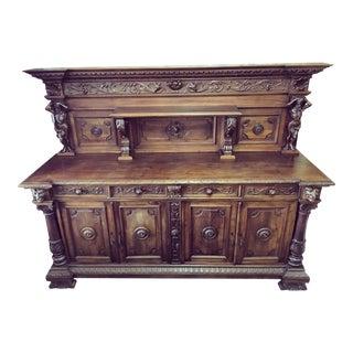 Antique Italian Walnut Sideboard