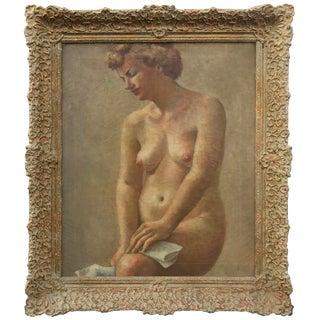 Impressionist Nude Oil Painting C.1920