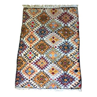"Moroccan Diamond Geometric Pattern Shag Rug - 3'10"" X 5'4"""