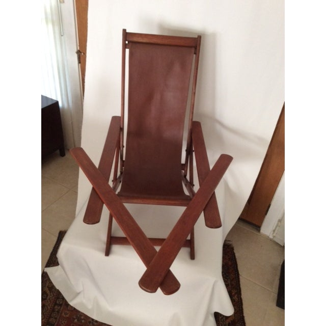 Antique Ocean Liner Folding Deck Chair - Image 7 of 11