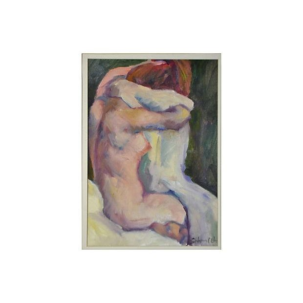 "Sally Hamilton ""After the Bath"" Painting - Image 2 of 2"