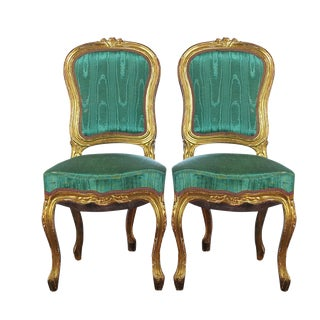 Louis XVI Style Giltwood Chairs - Set of 4
