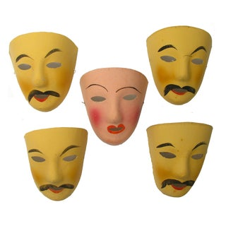 French Mardi Gras Mask Collection - Set of 5