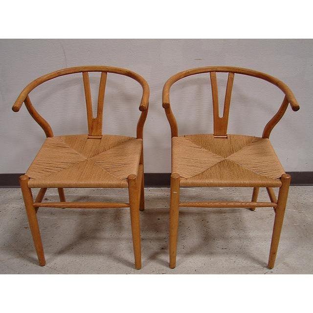 Hansen-Style Danish Rush Chairs - A Pair - Image 6 of 6