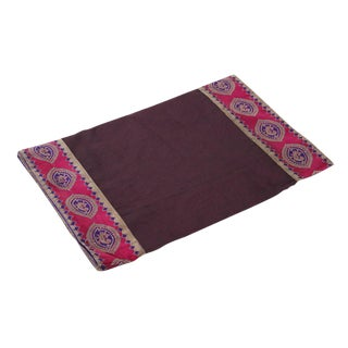 Plum Heritage Silk Runner