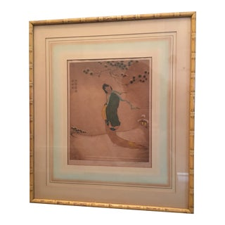 """1929 Dorsey Potter Tyson """"Snow Maiden"""" Signed Etching"""