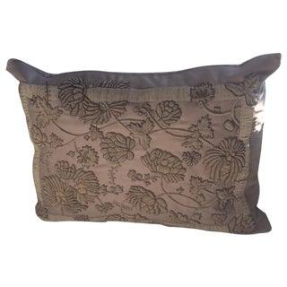 Ralph Lauren Tonal Bullion Embroidered Silk Pillow