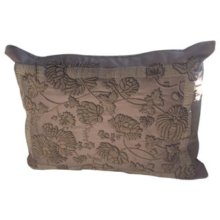 Ralph Lauren Tonal Bullion Embroidered Silk Pillow