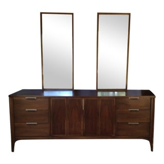 1950s Kent Coffey Impact Line Dresser With Two Mirrors