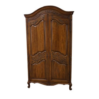Vintage Louis XV Style Armoire Cabinet by White