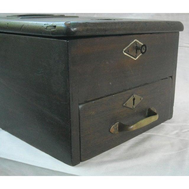 Image of Antique Victorian Cash Till Box Railroad