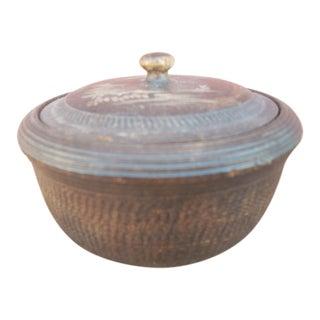 Vintage Japanese Wooden Basket Box