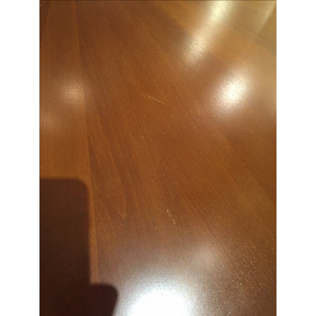 Image of French Cherry Wood Pedestal Dining Table