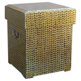 Gold Lacquered Covered Trunk