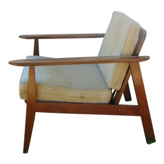 Mid-Century Wood Chair With Original Cushions