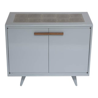 50's era Tile Topped Lacquered Bar Cabinet