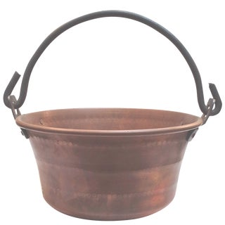 Textured Solid Copper Pot
