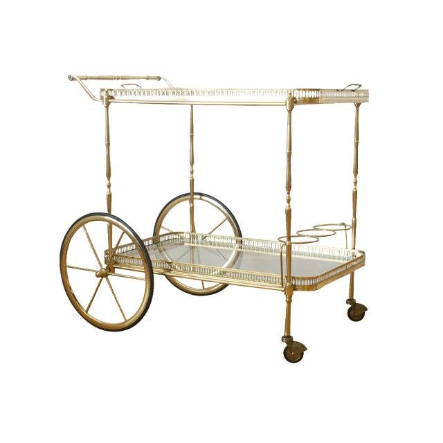 Hollywood Regency Brass Cart - Image 1 of 5