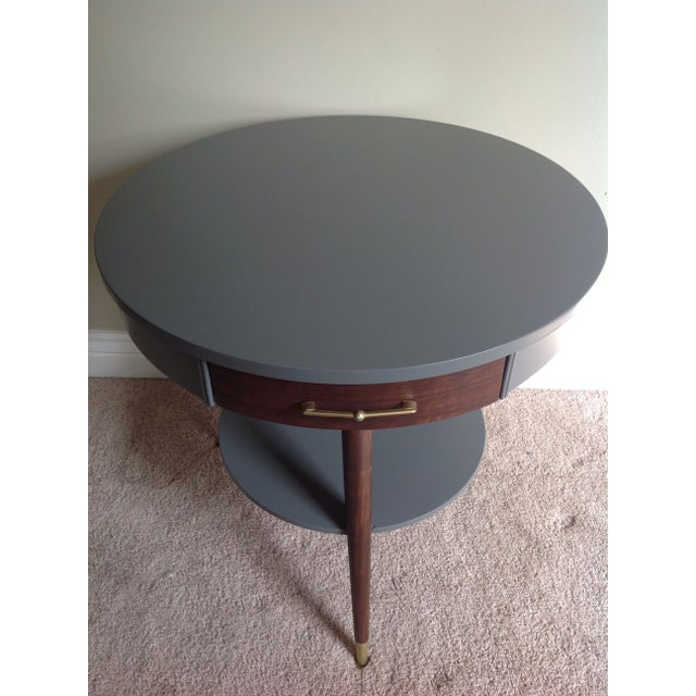 Mid-Century Tripod Leg Table with Drawer - Image 4 of 7