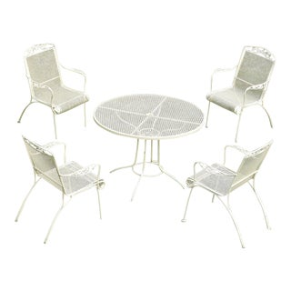 Russell Woodard Yellow Wrought Iron Patio Set - Set of 5